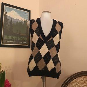 Argyle V Neck Sweater Vest
